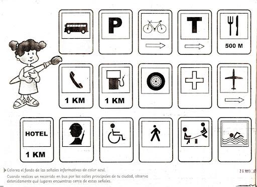 Dibujos de señales preventivas para colorear - Imagui