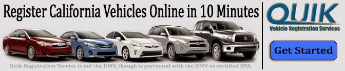 California DMV registration