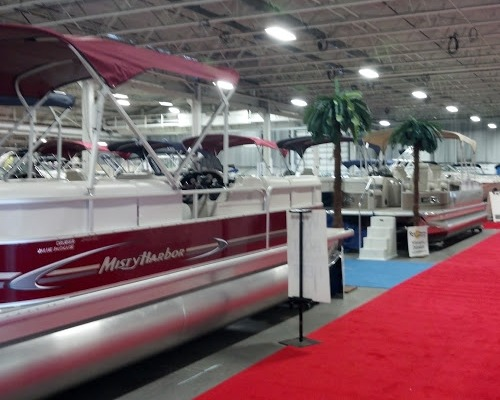 Pontoon boats at the Philly boat show