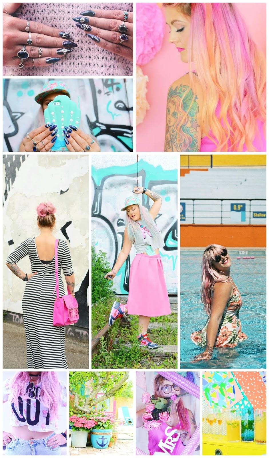 favourite blogger, style blogger, colourful blogger, pink hair, Mermaid Gossip, Bristol blogger