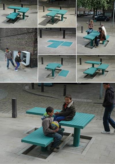 Base paisajismo mobiliario urbano mesas iii for By h mobiliario