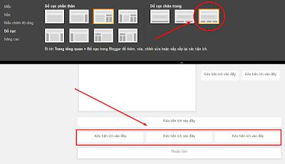Thay đổi bố cục chân trang Blogger (BlogSpot)