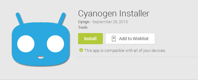 How to use cyanogenmod installer app