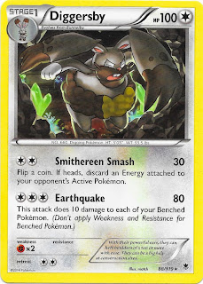 Diggersby Phantom Forces Pokemon Card
