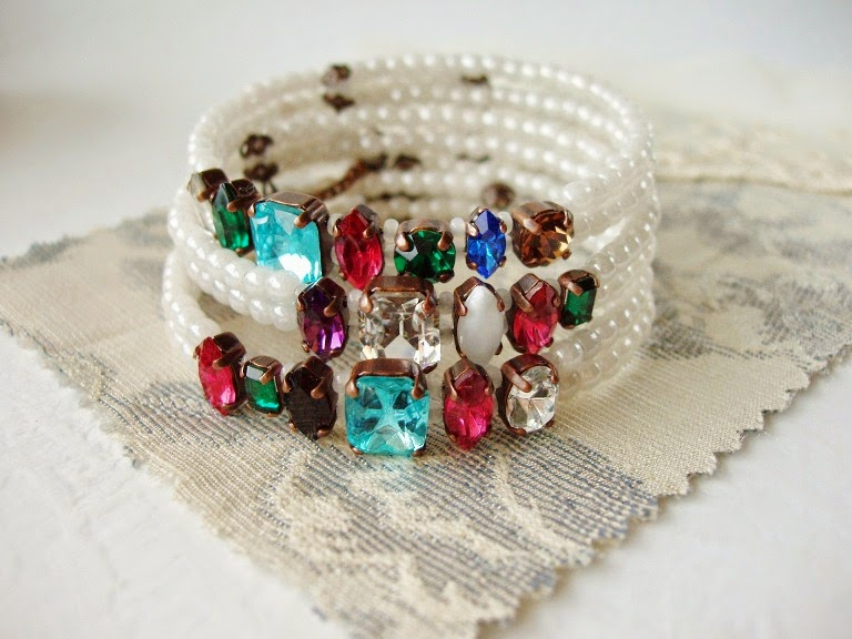 stacking jewelry vintage acrostic amethyst aquamarine opal ruby emerald diamond crystal