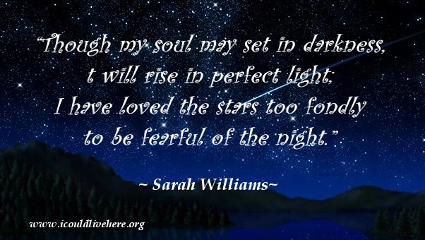 Shooting Star - Quotes - Sarah Williams, darkness night Meme