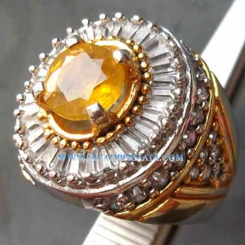 Batu Permata Safir Yellow Ring Tupper