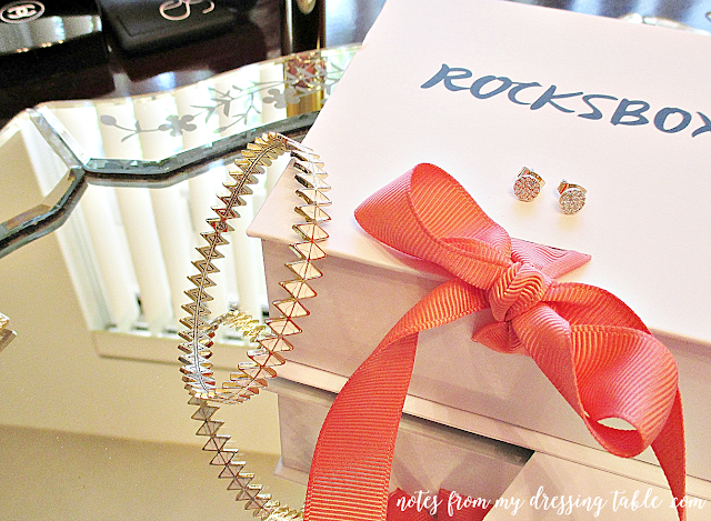 my first rocksbox house of harlow reflector bangle bracelet notes from my dressing table