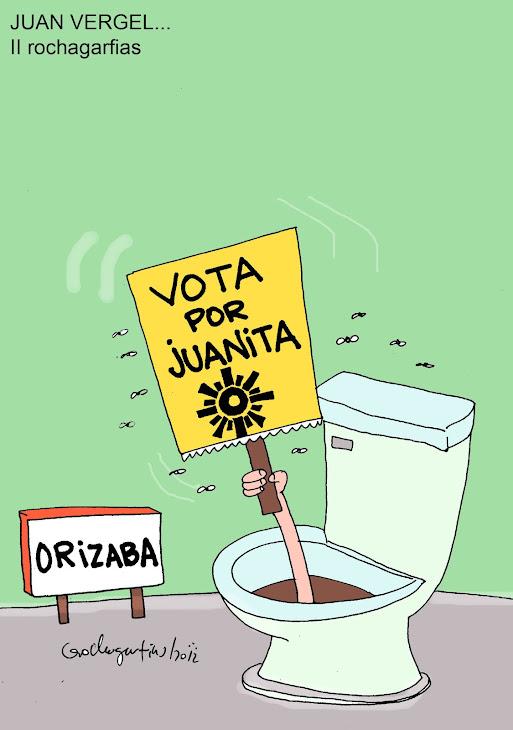 En Orizaba Juan Vergel quita candidato a diputado perversamente.
