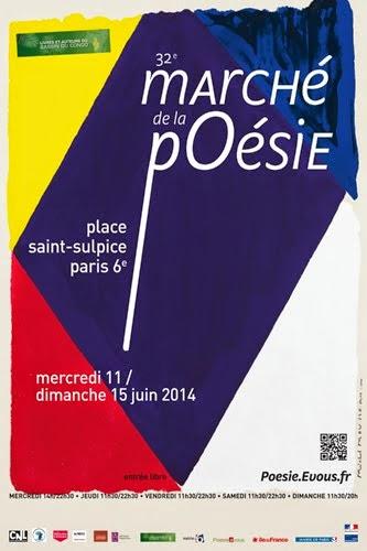 ÉDITIONS LE CADRAN LIGNÉ au Marché de la poésie, 14 et 15 juin 2014, PARIS 6ème