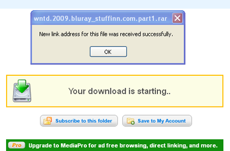 How to resume mediafire downloads ?