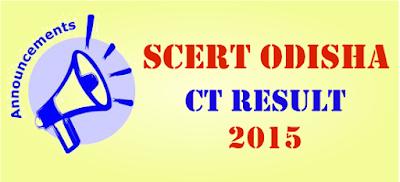 SCERT Odisha CT Entrance Result 2015
