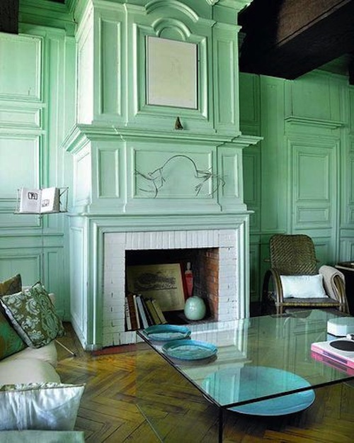 cheeky chic decorating trends tips sea foam green