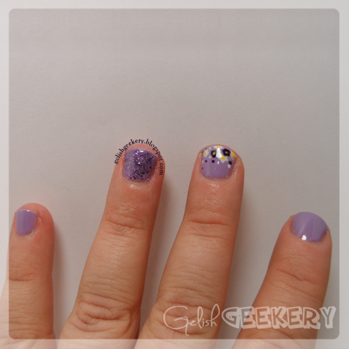 Gelish Lilac Flowers and Feel Me On Your Fingertips