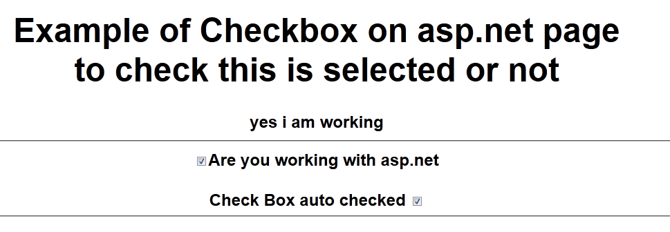 How to check If checkbox Is checked in asp.net