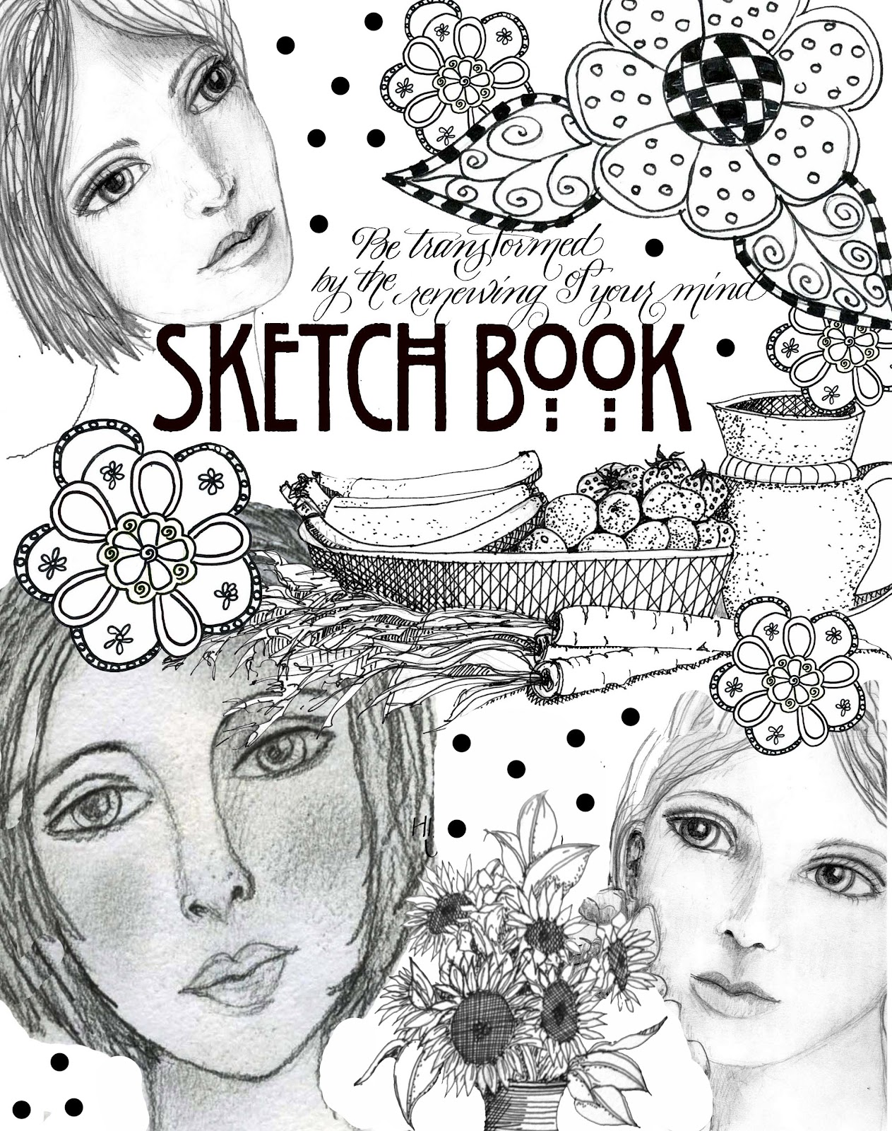 Sketch Book Cover ~ Art du jour by martha lever sketchbook cover