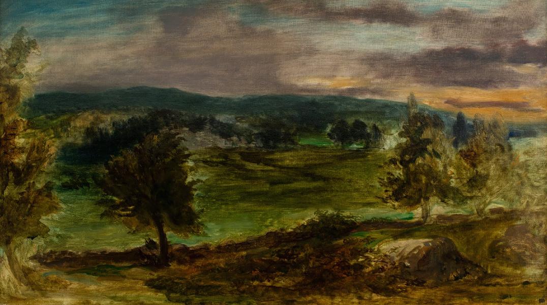 Paysage à Champrosay Eugène Delacroix