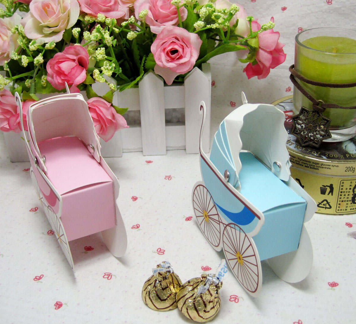hamogift favor box stroller for baby shower