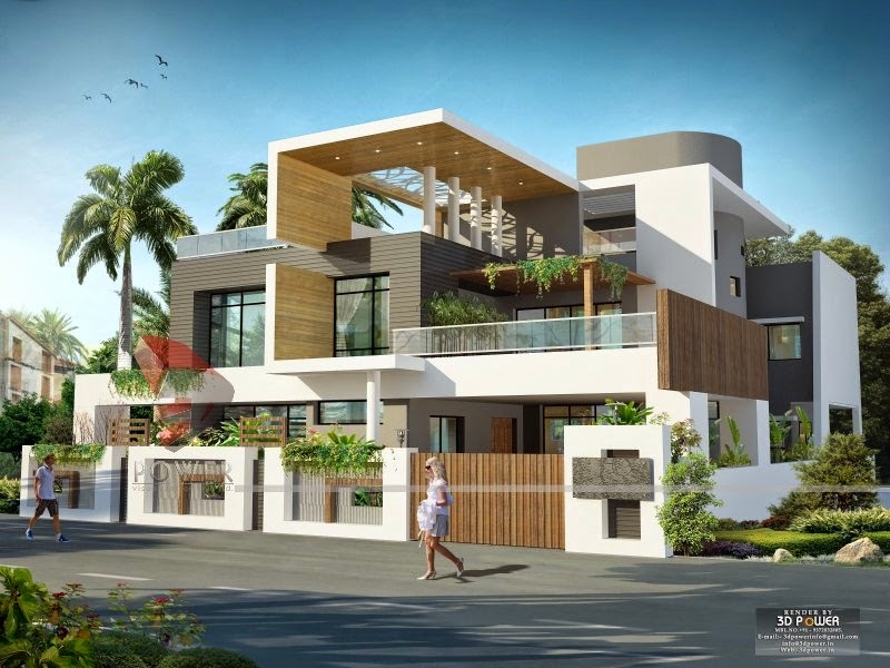 simple elegant exterior design of indian bungalow - Modern Home Exterior