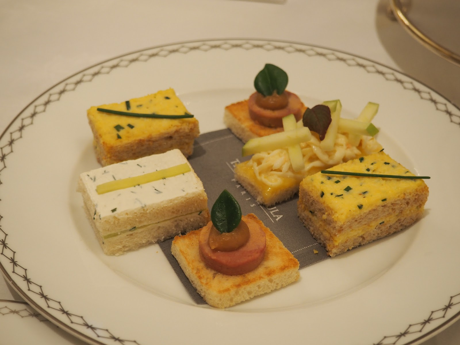Peninsula Hotel, Paris, Afternoon Tea, Finger Sandwiches