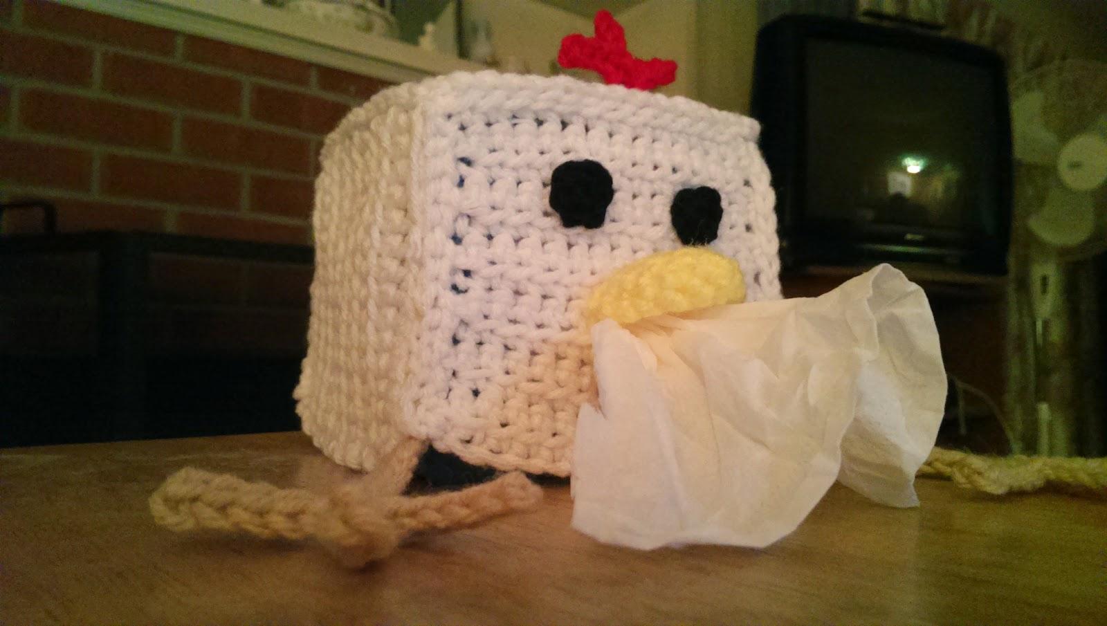Catty Crochet Chicken Tissue Box Cover Pattern