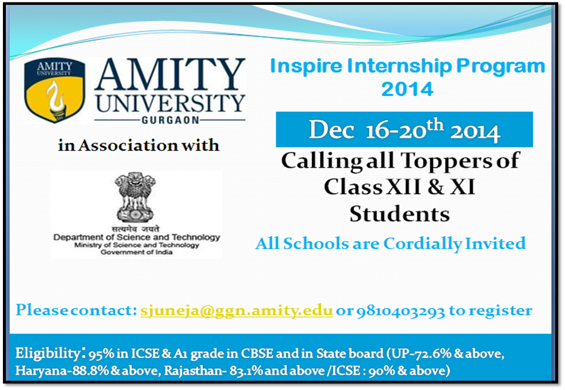 amity university internship guidelines Here are the top 25 summer internship profiles at fortis healthcare on linkedin amity university, gautam budh nagar - 2 delhi university community guidelines.