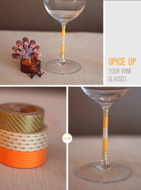 Ideas para fiestas adornar copas con washi tape Ideas para decorar con washi tape