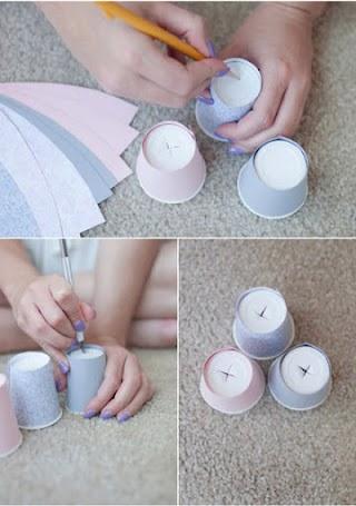cara membuat lampu dekorasi dari cup minuman