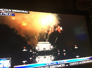 Fireworks at Lincoln Memorial Honors Change of Command