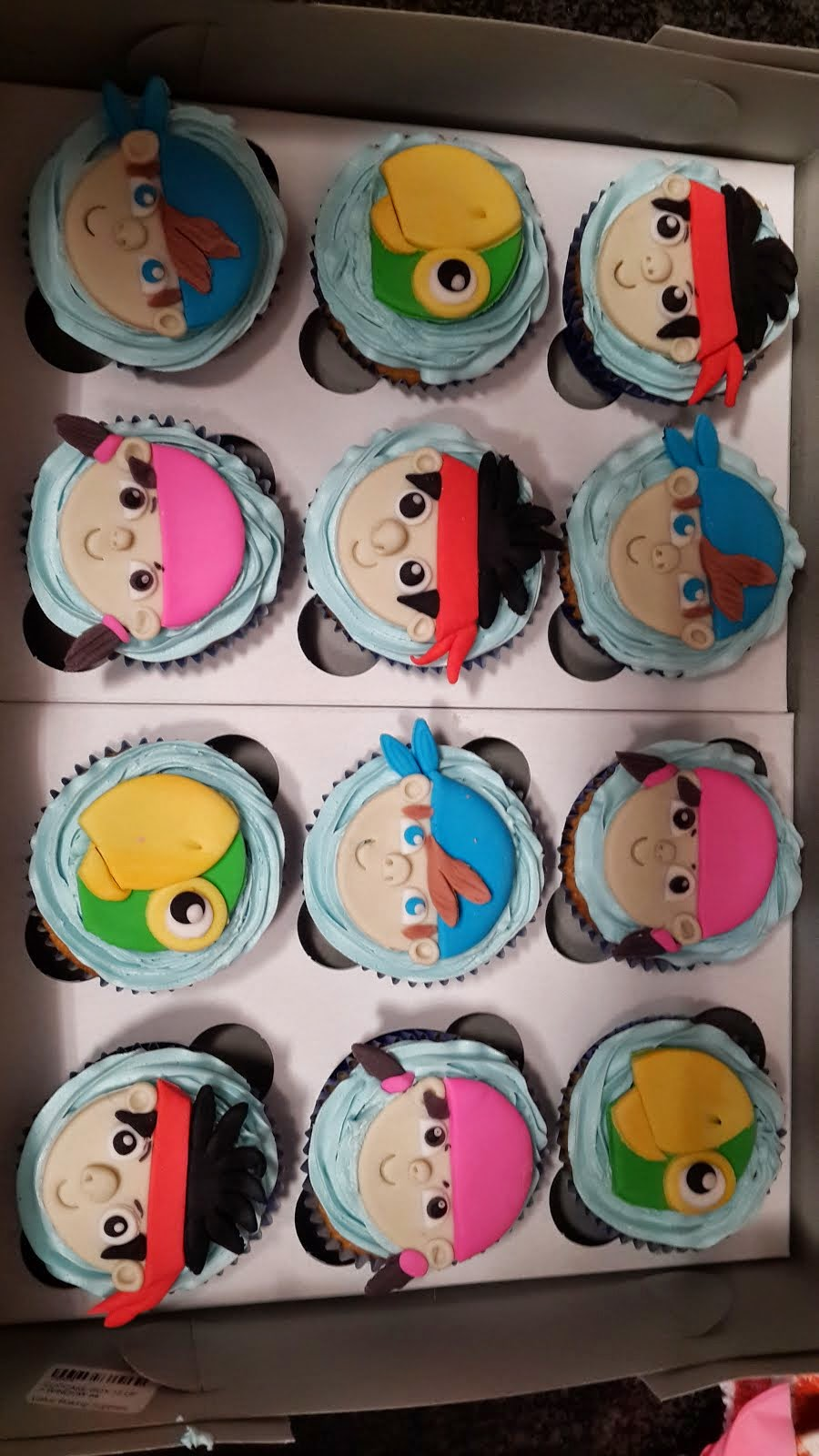 Jake & the Neverland Pirates Cupcakes