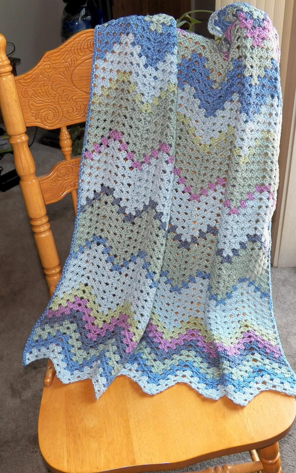 Crochet Attic New Baby Granny Ripple Afghan Tah Dah