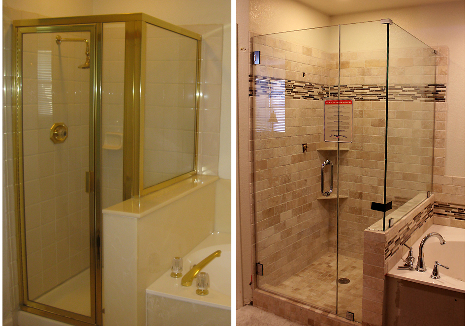 master bathroom update the shower is done the kim six fix. Black Bedroom Furniture Sets. Home Design Ideas