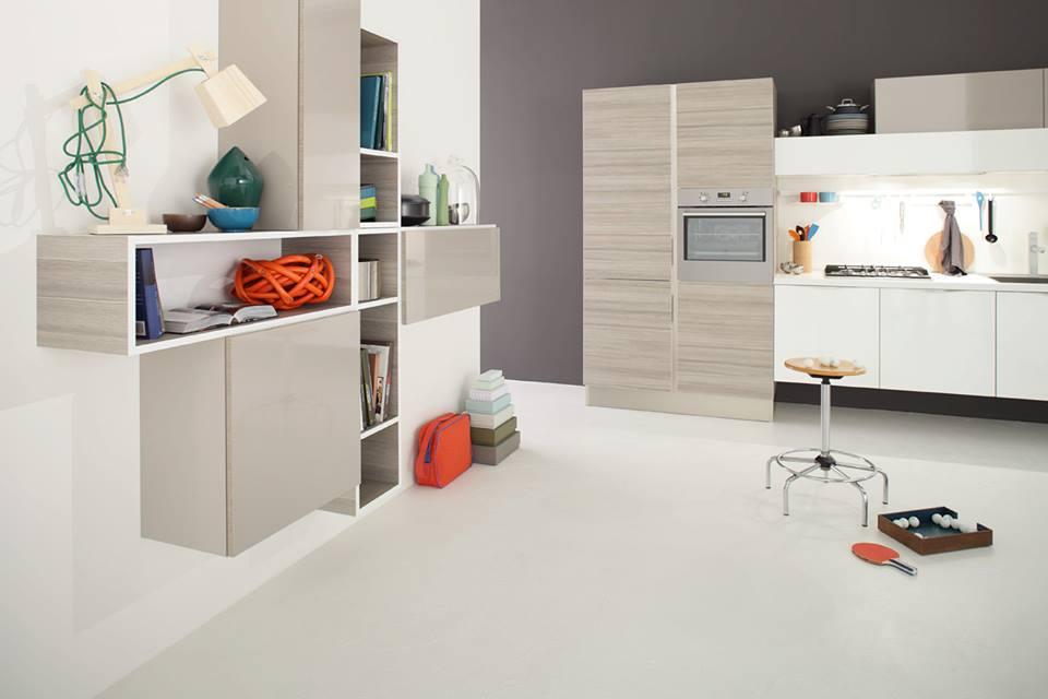 la cucina e il soggiorno nella stesso ambiente ... con veneta ... - Soggiorno Veneta Cucine