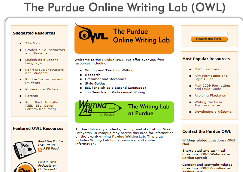 purdue online writing center Writing center information for the center for academic support and advancement at indiana university-purdue university fort wayne.