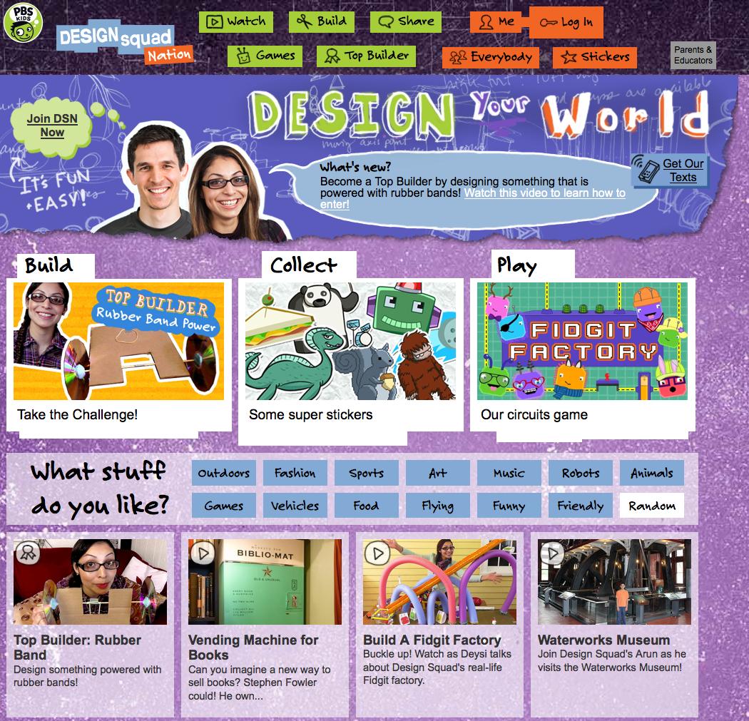 Design Squad Website >> Website Pbskids Design Squad Nation Teacherlink Blog