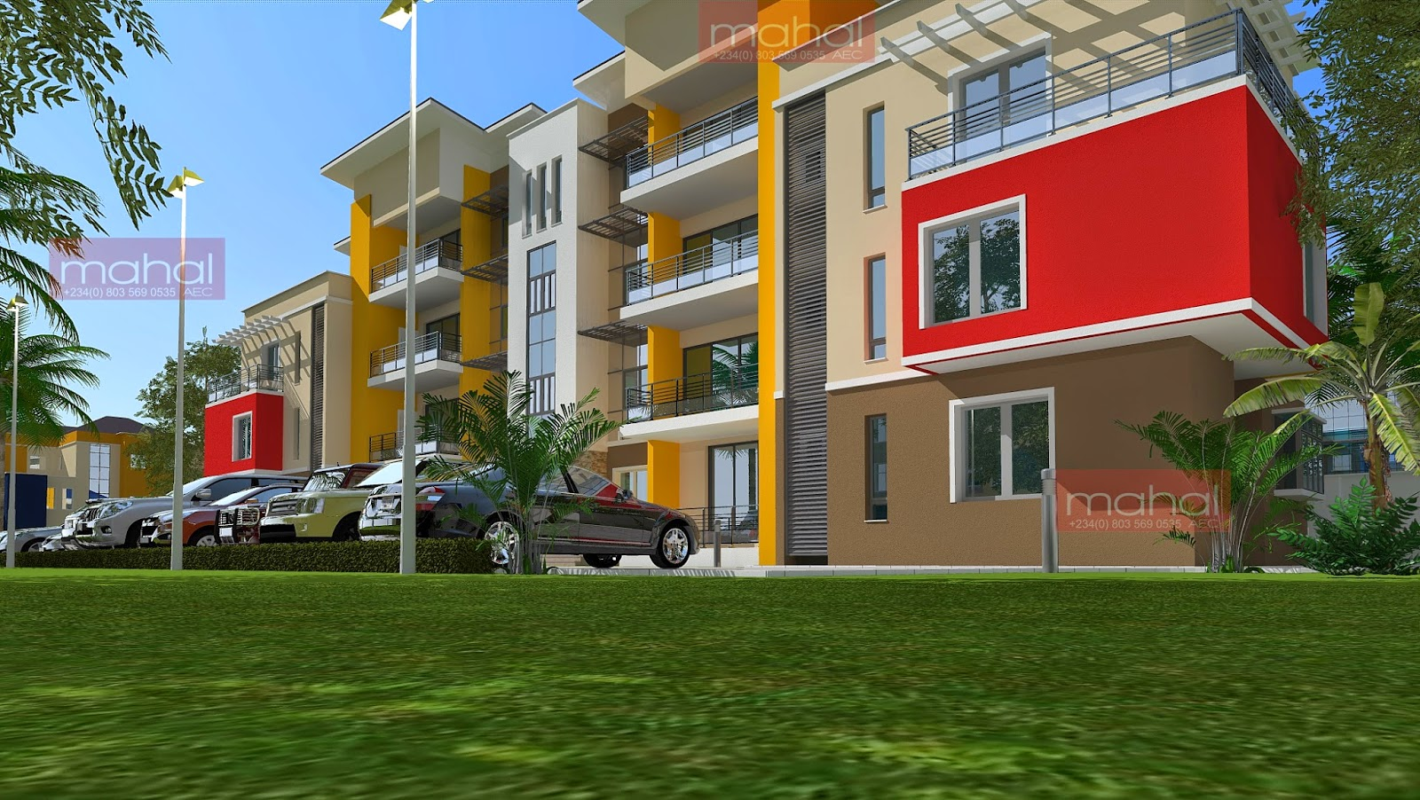 Contemporary nigerian residential architecture june 2014 for Apartment plans in nigeria