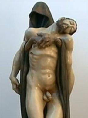 setelah turun dari tiang salib Jesus-penis
