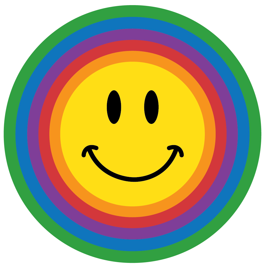 Susan's School Daze: Rainbow Color Smileys