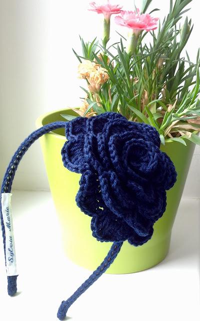 diadema hecha a crochet, haarreife gehäkelt