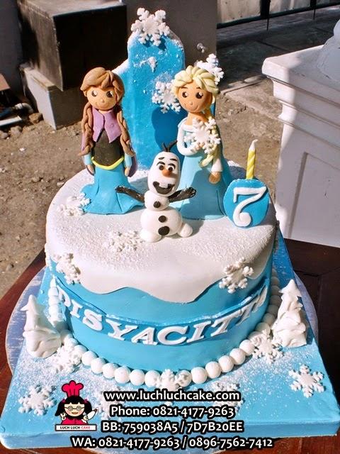Kue Tart Frozen Fondant Cake 3D Daerah Surabaya - Sidoarjo