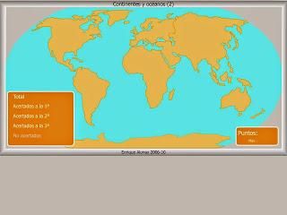 Continentes y Océanos 2