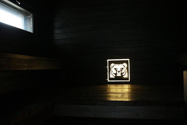 musta sauna, saunan valo, harmaa, saunatupa, saunarakennus, mökkisauna