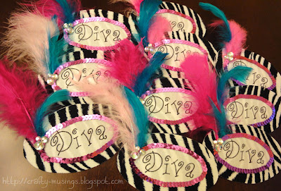 a pile of fancy Diva nametags