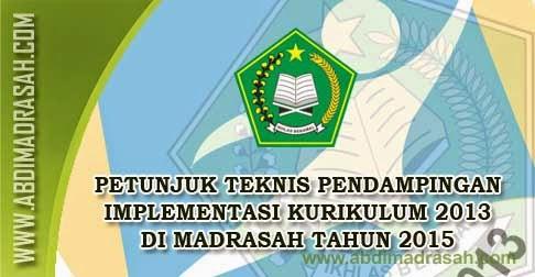 Juknis Pendampingan Implementasi Kurikulum 2013 di Madrasah