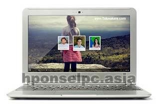 Laptop menggunakan OS Google Chrome
