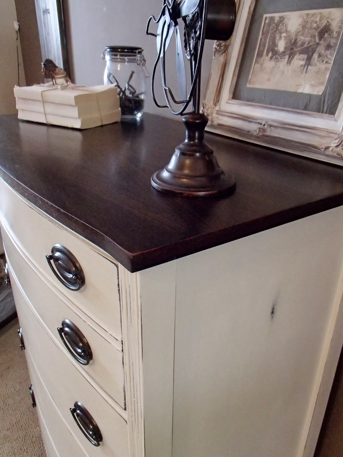 I Painted The Original Hardware In Oil Rubbed Bronze And Tried Jacobean Stain On Tops This Time Its Just Slightly Darker Than Dark Walnut