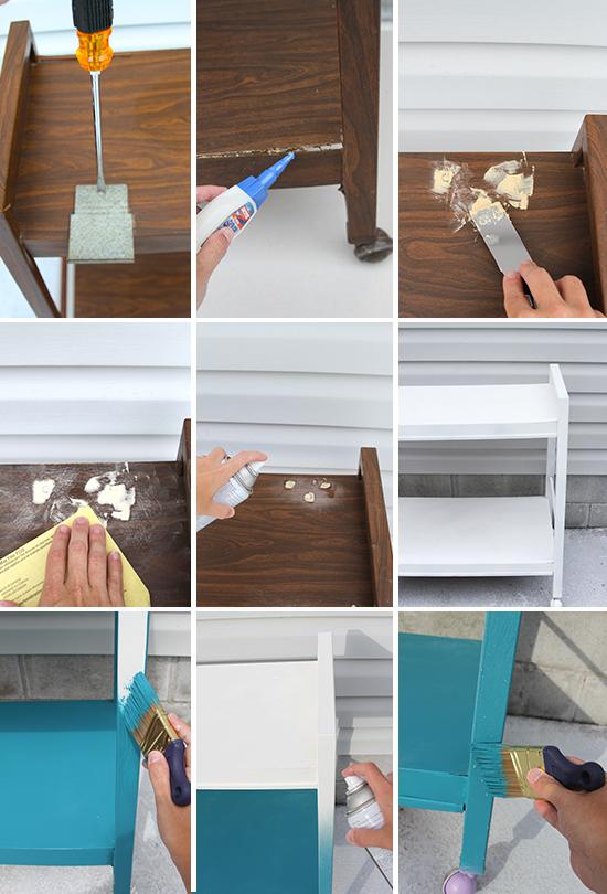Diy mesa auxiliar 3 opciones de usarla la garbatella for Como reciclar una mesa de televisor antigua