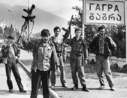 фото Боевики в Абхазии 1992-1993 год