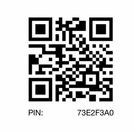 Blackberry PIN 73E2F3A0