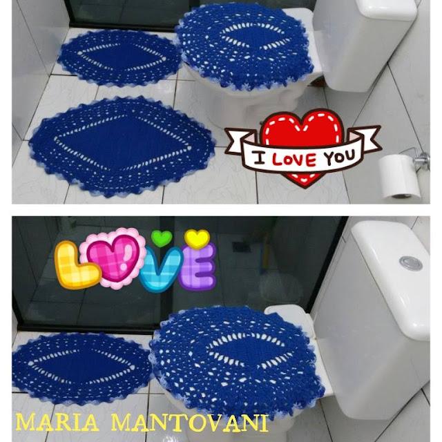 Jogo De Banheiro Quadrado Simples : Crochetando com maria mantovani jogo de banheiro simples